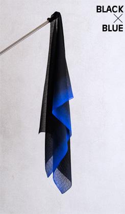 ROSHA BLACK/ゼブラ織バイカラー 青