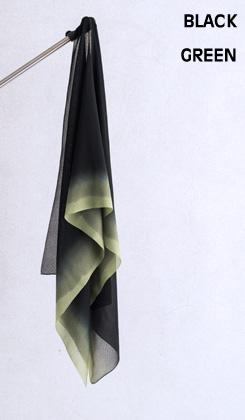 ROSHA BLACK/ゼブラ織バイカラー 緑