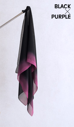 ROSHA BLACK/ゼブラ織バイカラー 紫