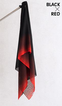 ROSHA BLACK/ゼブラ織バイカラー 赤