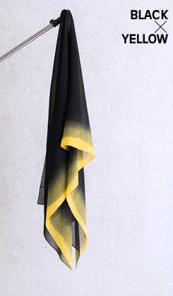 ROSHA BLACK/ゼブラ織バイカラー 黄